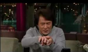 jackie chan hand injured bleed